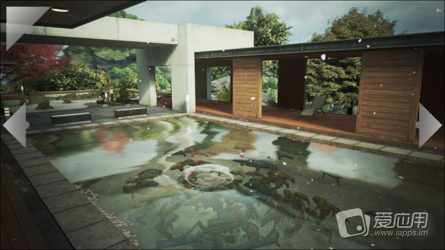 欧式花园 水池背景